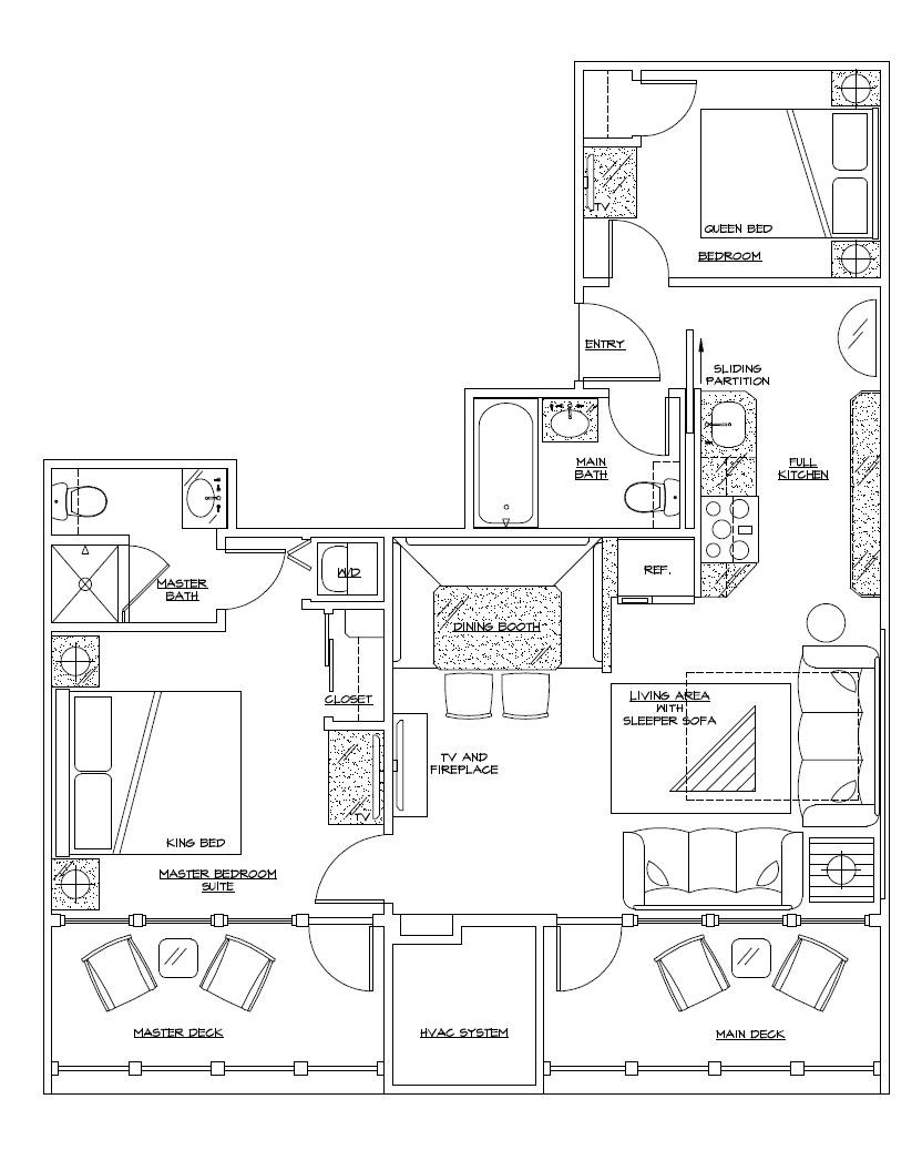 biscayne suites presidential suite view floorplan